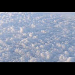 383631 View of clouds from