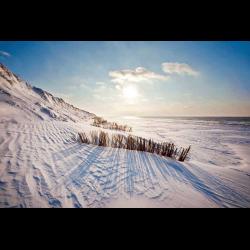 461312 Kuestenbefestigung mit Schnee auf