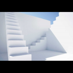 468675 White modern stairs of