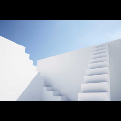468674 White modern stairs of